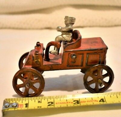 Vintage Cast Iron Wagon with Driver