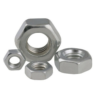 "Hex Full Nuts Bsw 1/8"" 5/32"" 3/16"" 1/4"" 5/16"" 3/8"" 1/2"" Zinc Plated Marine Grade"