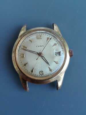 Vintage Cyma Swiss Wrist Watch 25 JEWELS! gold plated, serviced, working great!