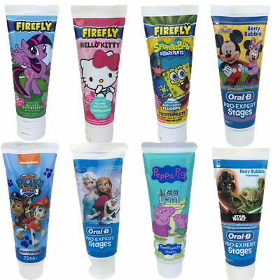 Kids Girls Boys Disney Character  75ML  Anticavity Fluoride Tooth Paste