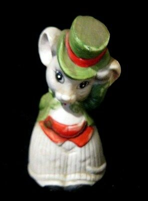 Jasco Bell-  Fine Bisque Procelain Handcrafted  Mr. Mouse