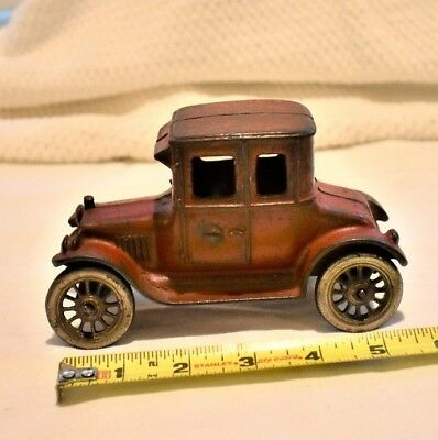 Vintage Early Cast Iron Car, Red