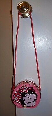 Mini Betty Boop Pink Round Tin Purse Tote 1999 Series #1 Great Condition!