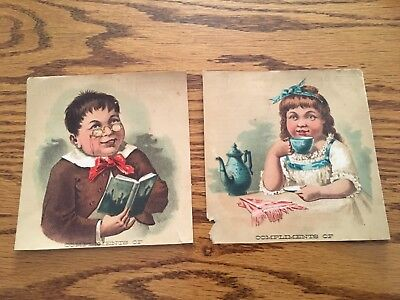 Advertising Victorian 1880's Large Trade Cards Perkins Windmill