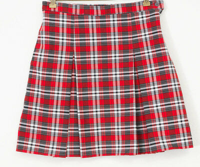 4a8f7211c3 UNBRANDED GIRLS SCHOOL Uniform Navy White Red Yellow Plaid Pleated ...