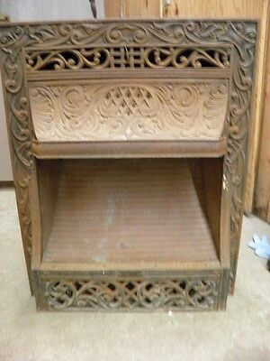 Antique Cast Iron Ornate Gas Fireplace Insert 1910