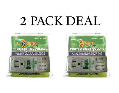 2 PACK NEW AC Voltage Protector Brownout Surge Refrigerator 1800 Watt Appliance