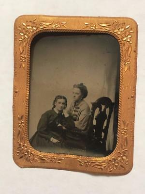 Dollhouse Miniature Ornate Metal Frame with Tin Type Picture 1:12 Scale