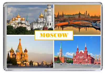 Moscow Russia Fridge Magnet 01