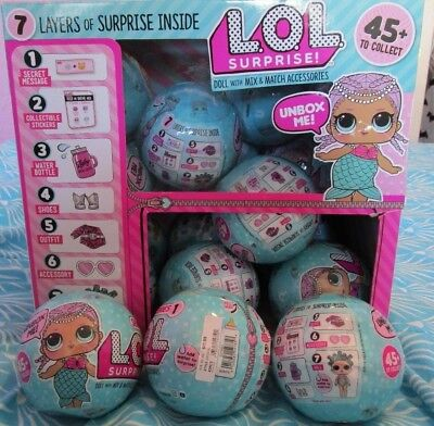 LOL Little Outrageous Littles Dolls Surprise Ball Series 1 Wave 2 Case 18 RARE