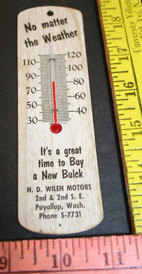 Advertising Thermometer Art Deco H.D. Wilen Motors Puyallup WA
