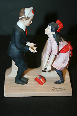 """The 12 Norman Rockwell Porcelain Figurines """"First Dance"""""""
