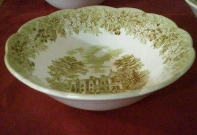 J.G. Meakin Romantic England Green Soup/Cereal Bowl- Beautiful! 6 available