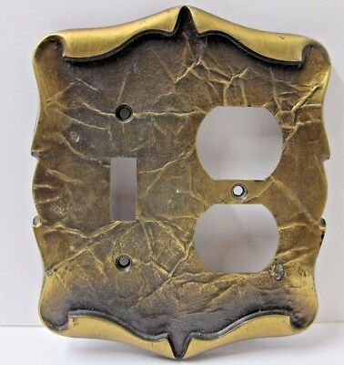 Vintage Amerock Carriage House Light Switch Outlet Cover Combo Plate Brass Look