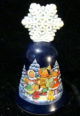 Christmas Bell - Avon Blue Glass Era 1987