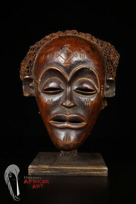"Great Chokwe Face Mask 12"" - Angola/DR Congo - African Art"