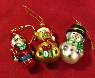 AVON ~ (2001) Traditional Glass Ornaments ~ 3 Piece Set ~ Blown Glass Ornaments!