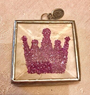 """Jewel Kade The Queen Charm Pendant Purple Crown """"JK Club""""  1 1/2 By 1 1/2 Inches"""