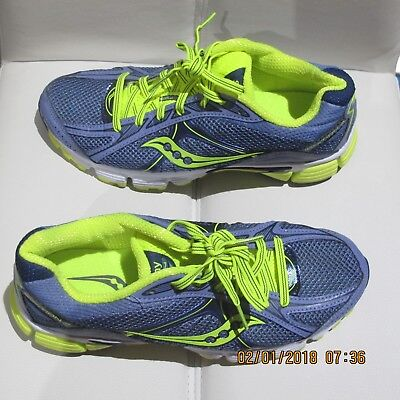 SAUCONY Ignition 4 Lilac/Neon Ladies Running/Trainers - Size US 7, UK 5 - EUC