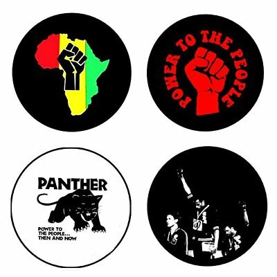 Black Panther , B - 4 chapas, pin, badge, button
