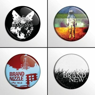 Brand New - 4 chapas, pin, badge, button