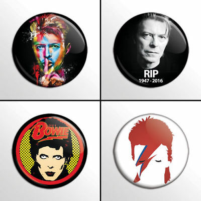 David Bowie, new - 4 chapas, pin, badge, button
