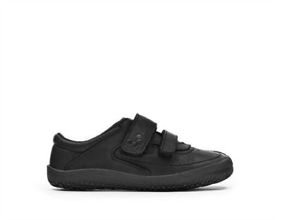 New Vivobarefoot Reno Kids Black Hide Minimalist Barefoot Casual School Shoe