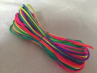 2mm Satin Jewellery Rope Cord DIY Nylon Necklace Baby Child Safe String -Rainbow