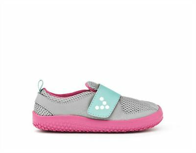 New Vivobarefoot MINI PRIMUS Kids Grey/Pink Minimalist Vegan Sneaker Trainer