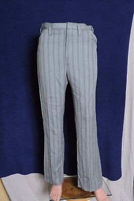 Vintage '60s Men's Koratron Permanent Press stripped casual pants 32X30.75