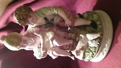 capodimonte classic gallery collection boy and girl porcelain figurine
