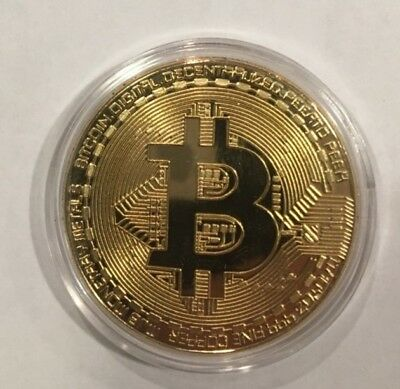 BITCOIN! Gold Plated Physical novelty Bitcoin FAST US SHIPPING!!!!!