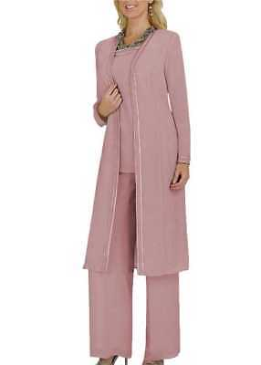 Elegant Mother Of the Bride Dresses Gowns Long Sleeves Pants Suits Jackets