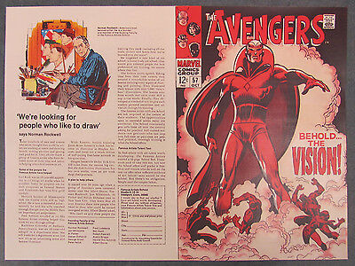 Facsimile reprint covers only to THE AVENGERS #57, 1ST APPEARANCE OF THE VISION