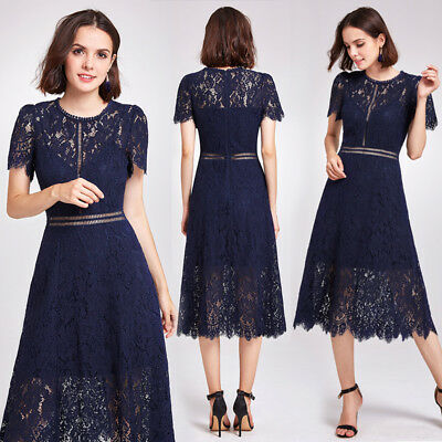 Alisa Pan US Lace Long Evening Dresses Round Neck Business Formal Dresses 05922