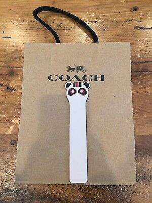 Coach Leather Bear Bookmark - Brand New Rocky