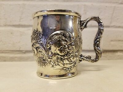 Reed and Barton Silver plated Mug / Cup with Child Decorations