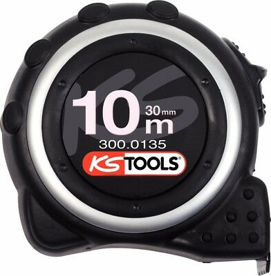KS Tools 300.0135 Tape measure with locking device and belt clip, 10m