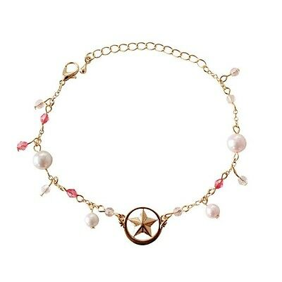 Anime Card Captor Sakura Kinomoto Metal Star Pearl Bracelet Cosplay Jewelry New