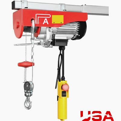 Engine 440LB ELECTRIC MOTOR OVERHEAD GARAGE HOIST CRANE LIFT w/Emergency Stop EP