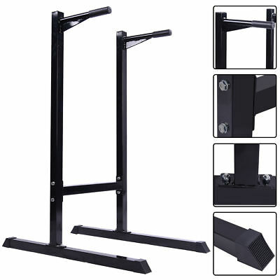 Dip Station Dipping Stand Bar Power Pull Push Tower Triceps Trainer Fitness Gym