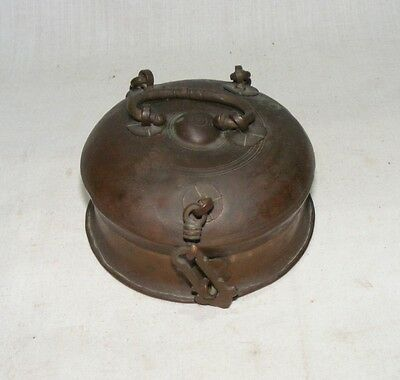 Old Vintage Original Copper jewellery Mughal Box  Beautiful Collectible