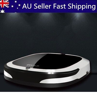 Black Rechargeable Smart Robot Vacuum Cleaner Dry Wet Sweeping Auto Dust Sweeper