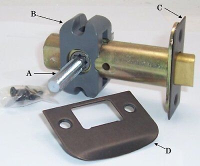 Finest Retrofit Latch with Custom Spindle to Fit Antique Rosettes and Antique in