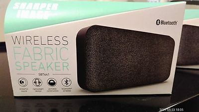 Sharper Image Bluetooth Fabric Wireless Speaker 1200 Picclick