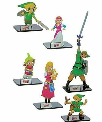 The Legend of Zelda Mini Figures 6pc Set by TOMY Ocarina of Time Skyward Sword