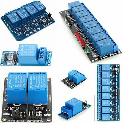 5V 1/2/4/6/8 Channel Relay Board Module Optocoupler LED for Arduino PiC ARM AVR