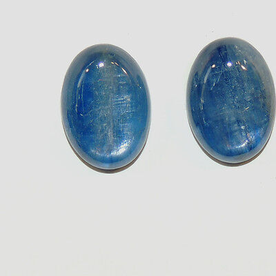 Kyanite 10x14mm with 5mm dome Cabochons Set of 2 (6570a)