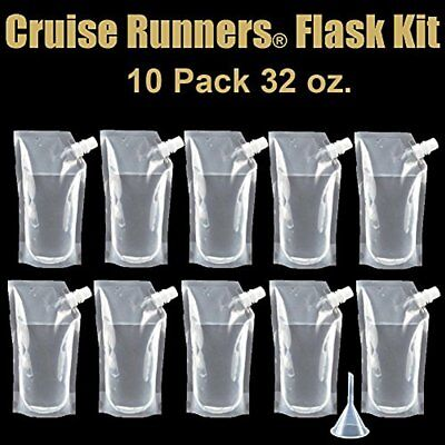Brand Ship Flasks Kit 10 32oz Sneak Alcohol Runner Rum Liquor Smuggle Booze