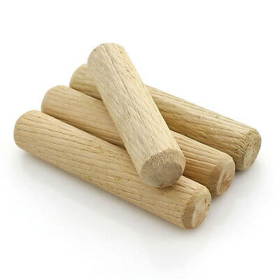 M6M8 Wooden Dowels Pin Hardwood Chamfered Flutted Beech Wood Multigroove